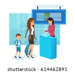 people traveling concept. mom...   Shutterstock .eps vector #614462891