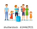 people traveling concept. young ... | Shutterstock .eps vector #614462921