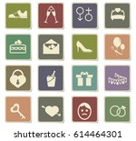 wedding vector icons for user... | Shutterstock .eps vector #614464301