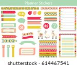 collection of planner stickers... | Shutterstock .eps vector #614467541