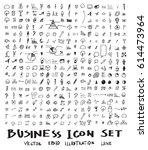 business doodles sketch vector... | Shutterstock .eps vector #614473964