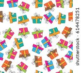 seamless vector pattern with... | Shutterstock .eps vector #614478251
