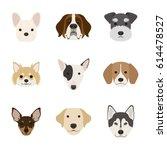 dog face set | Shutterstock .eps vector #614478527
