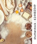 pastry  cakes  cook their own...   Shutterstock . vector #614483549