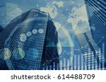 global business and information ... | Shutterstock . vector #614488709