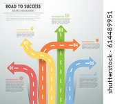 road way infographic template 5 ... | Shutterstock .eps vector #614489951