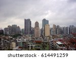 macau skyline viewed from the... | Shutterstock . vector #614491259