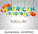 american football abstract... | Shutterstock .eps vector #61449262