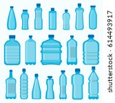plastic bottles vector isolated ... | Shutterstock .eps vector #614493917