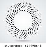 halftones in circles form .... | Shutterstock .eps vector #614498645