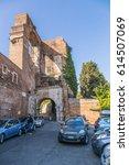 Small photo of ROME, ITALY - NOV 12, 2015: Arch of Dolabella and Silana, 10 AD E.