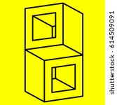 geometry. optical illusion cube | Shutterstock .eps vector #614509091