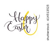 happy easter   greeting card.... | Shutterstock .eps vector #614513525
