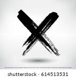 x.grunge letter x vector cross... | Shutterstock .eps vector #614513531