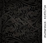 seamless damask wallpaper | Shutterstock .eps vector #61451716