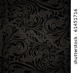 seamless damask wallpaper | Shutterstock .eps vector #61451716