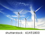 wind turbines | Shutterstock . vector #61451803