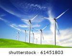 wind turbines | Shutterstock . vector #61451803