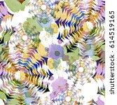 seamless pattern ethnic design. ... | Shutterstock . vector #614519165