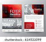 red brochure cover flyer poster ... | Shutterstock .eps vector #614522099