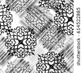 seamless pattern with lacy... | Shutterstock . vector #614522885
