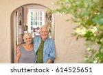portrait of a smiling senior...   Shutterstock . vector #614525651