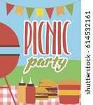 summer party invitation... | Shutterstock .eps vector #614532161