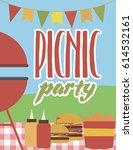 summer party invitation...   Shutterstock .eps vector #614532161