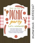 summer party invitation... | Shutterstock .eps vector #614532167