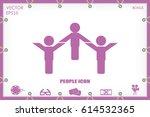 people three icon vector | Shutterstock .eps vector #614532365