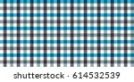 blue and white check plaid... | Shutterstock .eps vector #614532539