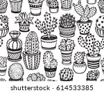 seamless pattern with hand... | Shutterstock .eps vector #614533385