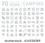 set  line icons in flat design...   Shutterstock . vector #614538389