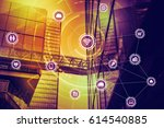 internet of things concept.... | Shutterstock . vector #614540885