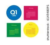 first quarter of calendar 2018  | Shutterstock .eps vector #614548091