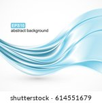 abstract blue waves background. ... | Shutterstock .eps vector #614551679