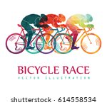 cycling race colorful... | Shutterstock .eps vector #614558534
