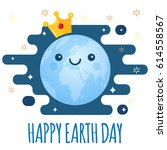 earth day vector background.... | Shutterstock .eps vector #614558567