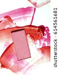 stylish samples of cosmetics... | Shutterstock . vector #614561681