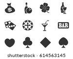 casino web icons for user... | Shutterstock .eps vector #614563145