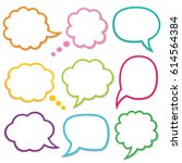 speech and thought bubbles... | Shutterstock .eps vector #614564384
