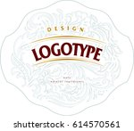 template for label logo with... | Shutterstock .eps vector #614570561