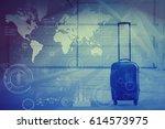 worldwide business concept | Shutterstock . vector #614573975