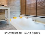 Bath Tube With Bubbles  Water...