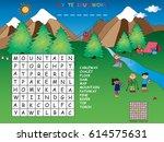 game for children  crossword in ... | Shutterstock . vector #614575631