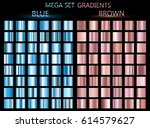set of blue and brown gradients.... | Shutterstock .eps vector #614579627