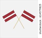 latvia  latvia flags. vector... | Shutterstock .eps vector #614579825