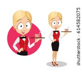 vector illustration of young... | Shutterstock .eps vector #614582075
