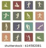 sport vector icons for user... | Shutterstock .eps vector #614582081