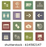 server vector icons for user... | Shutterstock .eps vector #614582147